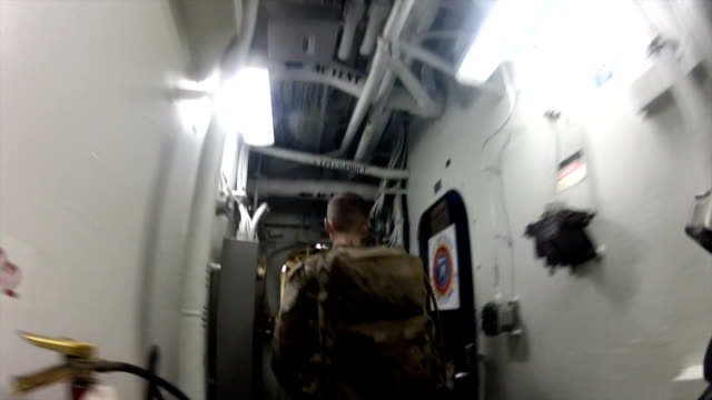 Troops In Navy Ship video