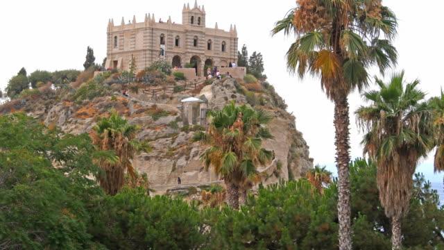 tropea monastery in italy - tropea video stock e b–roll
