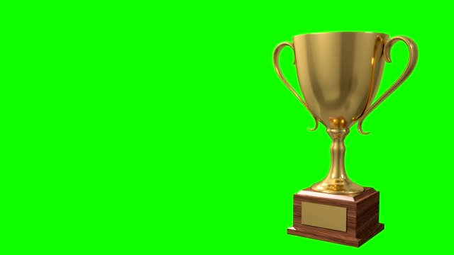 Trophy award ceremony intro with space for title text nomination 4K4