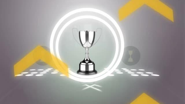 트로피 수상 우승 우승자 스포츠 - 찰리스 스톡 비디오 및 b-롤 화면