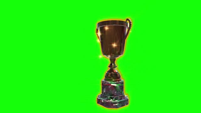 トロフィーのお祝い紙吹雪ループアニメーション - メダル点の映像素材/bロール