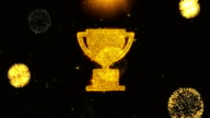 istock Trophy Win Cup Icon on Firework Display Explosion Particles. 1170755866