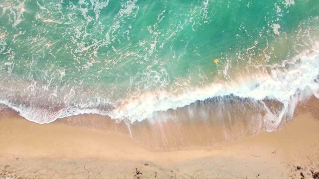 Tropical beach aerial view Paradise beach aerial viev aegean sea stock videos & royalty-free footage