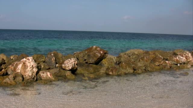 Tropical beach on curacao Tropical beach on curacao curaçao stock videos & royalty-free footage