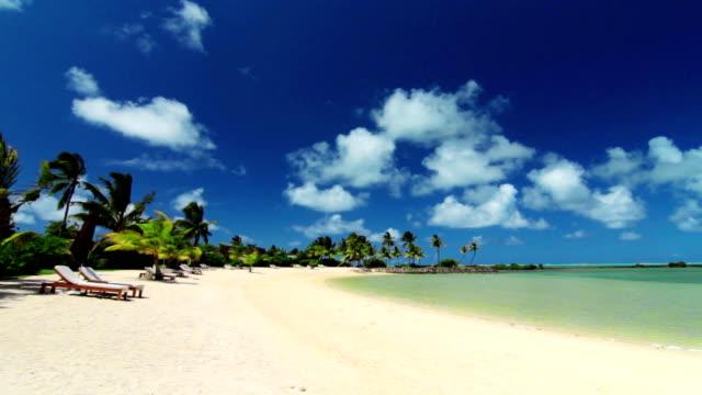 tropical spiaggia - isole mauritius video stock e b–roll