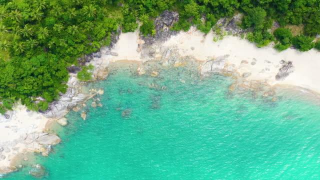 タイの熱帯美しい海岸ターコイズ水 - サムイ島点の映像素材/bロール