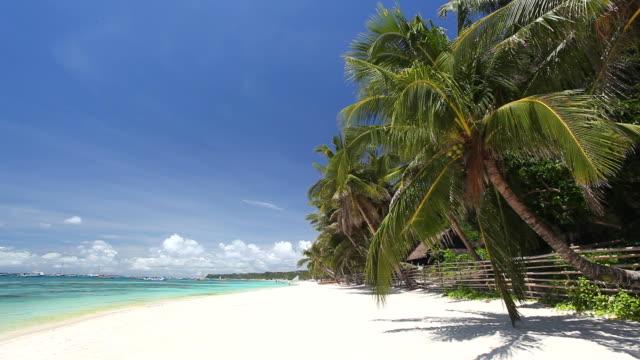 Tropical coastline with white sand Tropical coastline with white sand, Philippines, Boracay Island big island hawaii islands stock videos & royalty-free footage