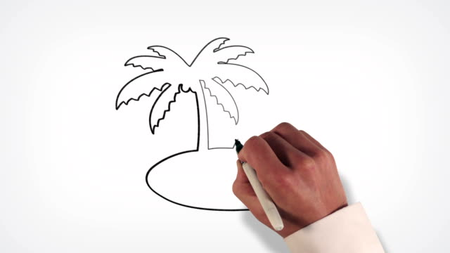 Tropical Island Whiteboard Stop-Motion Style Animation video