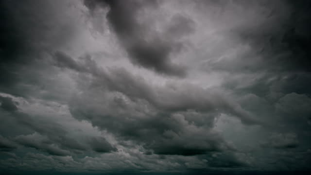 tropical monsoon storm cloud over the ocean - monsone video stock e b–roll