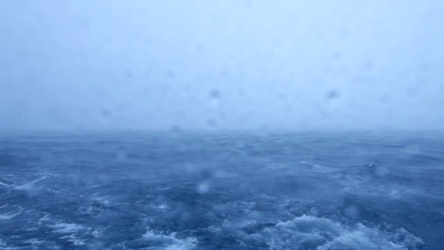 Tropical Rain Storm with Heavy Wind and waves in Ocean Tropical Rain Storm with Heavy Wind and waves in Ocean, Maldives indian ocean stock videos & royalty-free footage