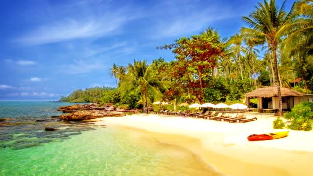 Tropical resort on island video