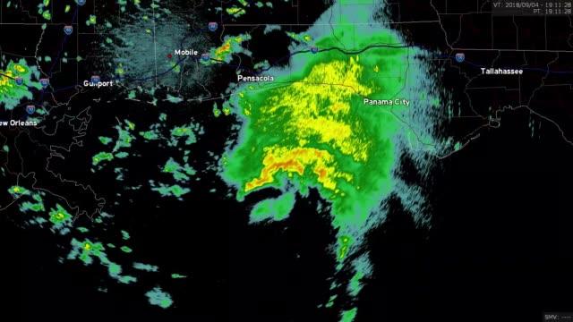 2018 tropik fırtına gordon yere indi doppler radar zaman atlamalı - hava stok videoları ve detay görüntü çekimi