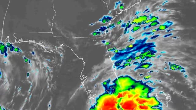 2018 Tropical Storm Gordon Landfall Infrared Satellite Time Lapse Time Lapse GOES Infrared Satellite footage of 2018's Tropical Storm Gordon approaching the gulf coast of the United States and making Landfall.   Imagery Provided by NOAA's Center for Satellite Applications and Research. meteorology stock videos & royalty-free footage