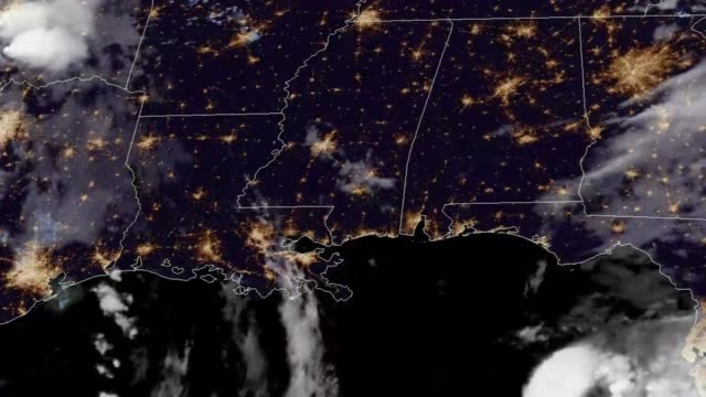 2018 Tropical Storm Gordon Landfall Satellite Time Lapse Time Lapse GOES Satellite footage of 2018's Tropical Storm Gordon approaching the gulf coast of the United States and making Landfall.   Imagery Provided by NOAA's Center for Satellite Applications and Research. meteorology stock videos & royalty-free footage