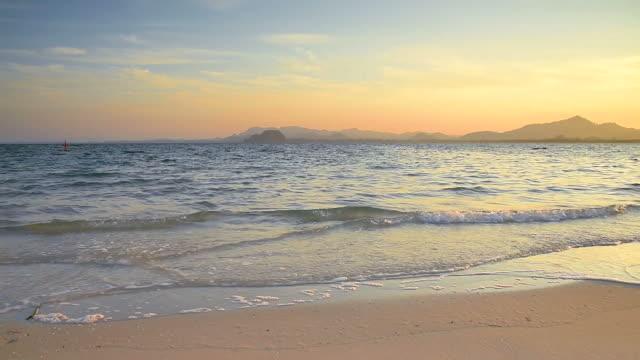 Tropical Sunrise Andaman sand beach video
