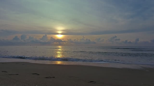 Tropical sunset beach. video