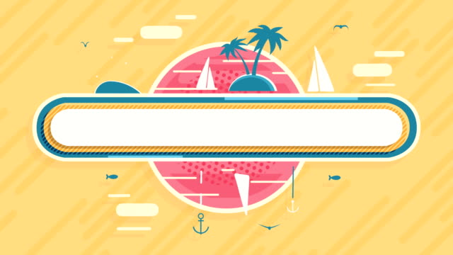 Tropical vacation Animation Symbol video