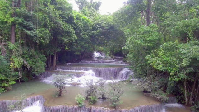 Tropical Waterfall in Forest. video