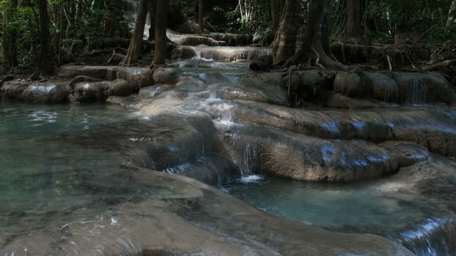 vidéos et rushes de cascade tropicale - randonnée équestre