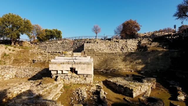 Troy. Troy was a city situated in the far northwest of the region known in late Classical antiquity as Asia Minor, now known as Anatolia in modern Turkey. archaeology stock videos & royalty-free footage