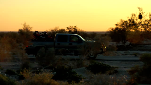 Truck drive by Sunrise/sunset video