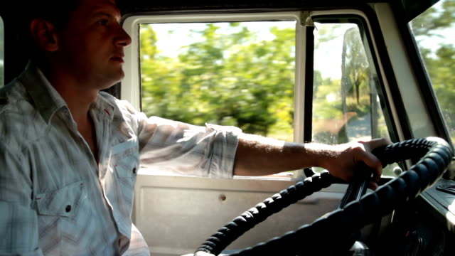 Truck Driver at the Wheel video
