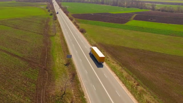 Truck Driving On The Road video