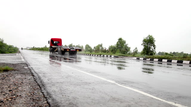 Truck Running On Highway video