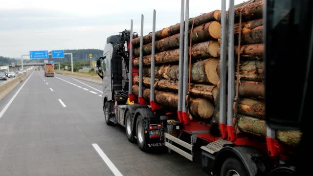 Truck transporting wood