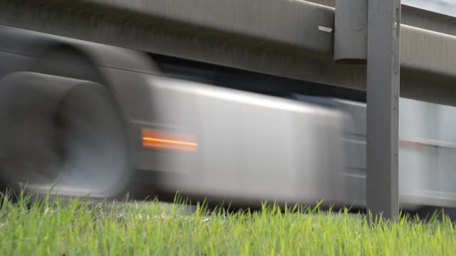 Trucks Driving on the Highway. No Camera Movement. With Sound. video