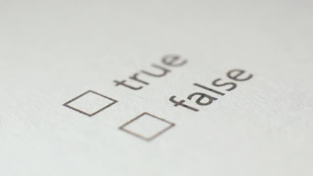 True Checkbox Marking Survey video