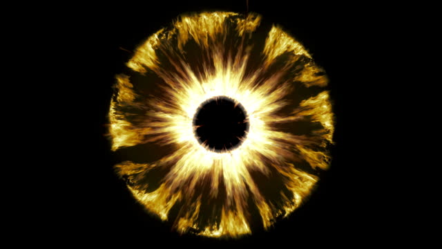 True Böse. Brennen Feuer Auge. Loop. – Video