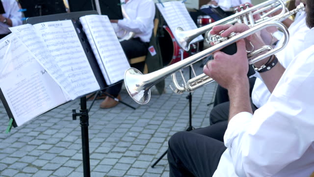 Trumpeters on a Brass Band video