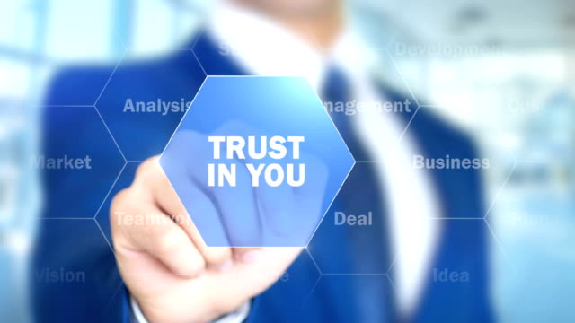 Trust in You, Man Working on Holographic Interface, Visual Screen video