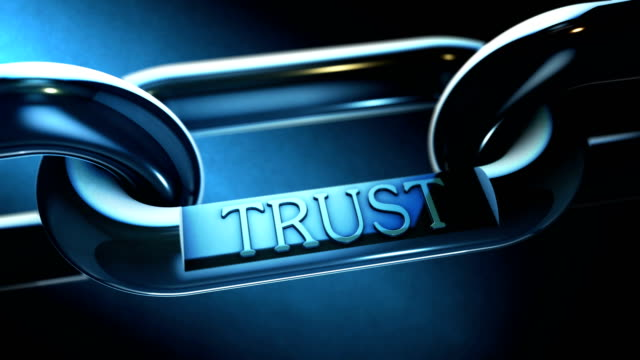 trust word as signon chrome chain video - parola video stock e b–roll