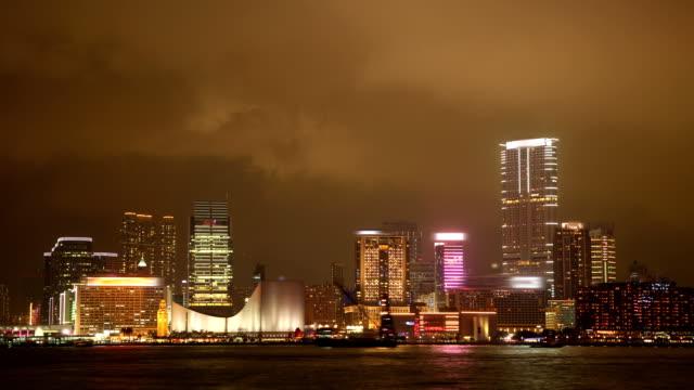 Tsim Sha Tsui. Hong Kong Cityscape Timelapse at Night. video