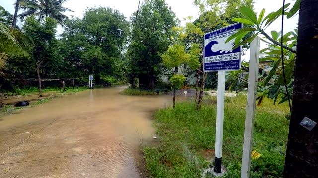 Tsunami Hazard Zone Evacuation Route Flood video