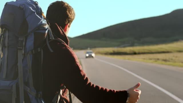 Ttourist hitchhiking video