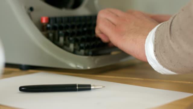 Ttyping On An Old Typewriter video
