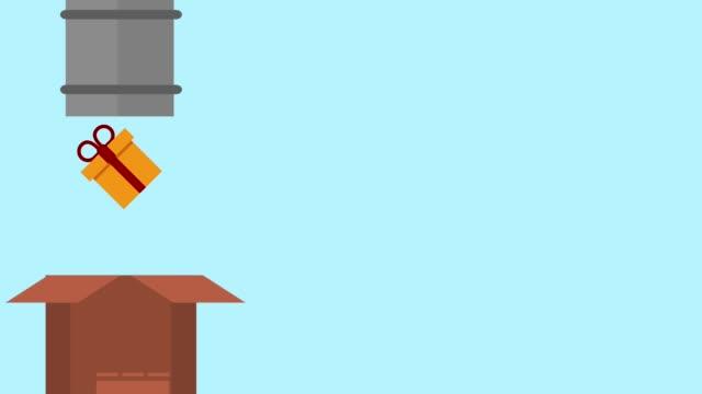チューブとギフトの hd アニメーション - アイコン プレゼント点の映像素材/bロール
