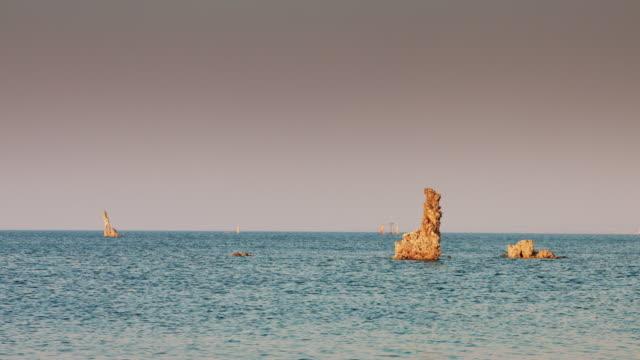 Tufa Pillars Standing Out of Mono Lake video