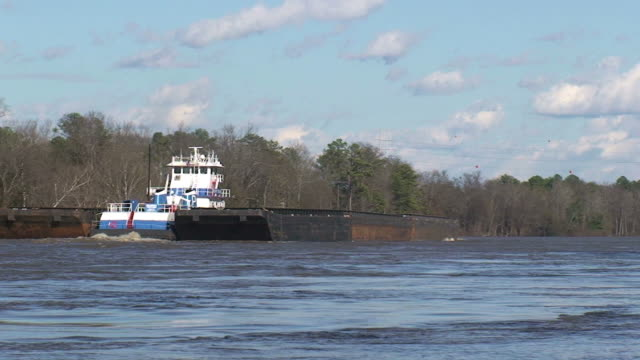 Tug and Barges video