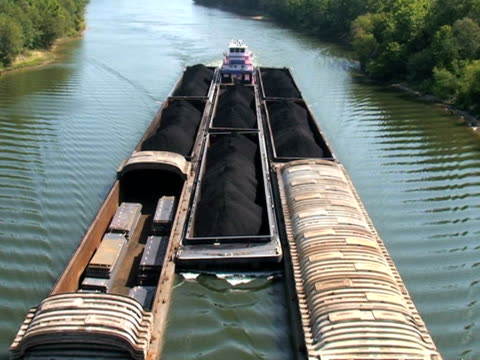 Tug Boat and Barges video