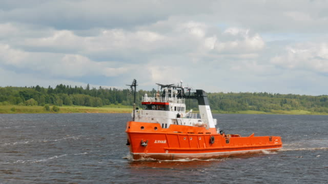 Tug boat with barge video