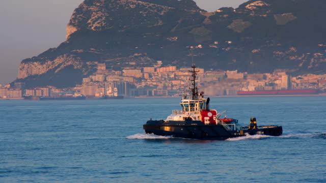 Tug Underway In Harbor Area In Mediterranean video
