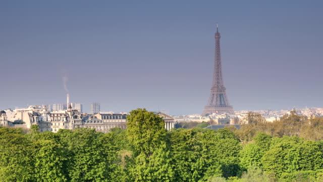 파리의 튈르리 전망 - 동작 정지 스톡 비디오 및 b-롤 화면