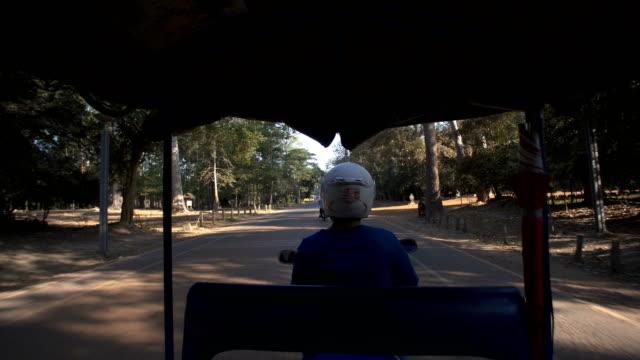 Tuk tuk in Angkor Wat video
