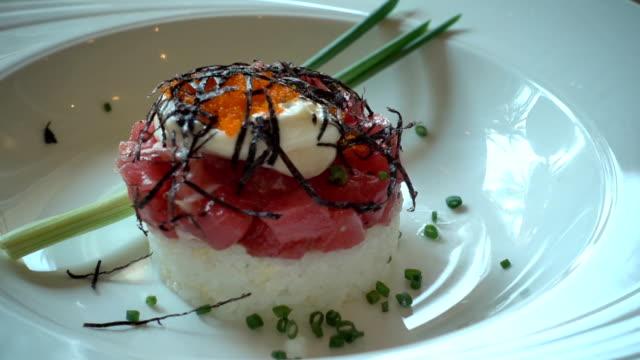 Tuna sushi video