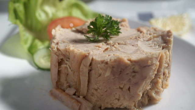 tuna Tuna on a plate tuna seafood stock videos & royalty-free footage