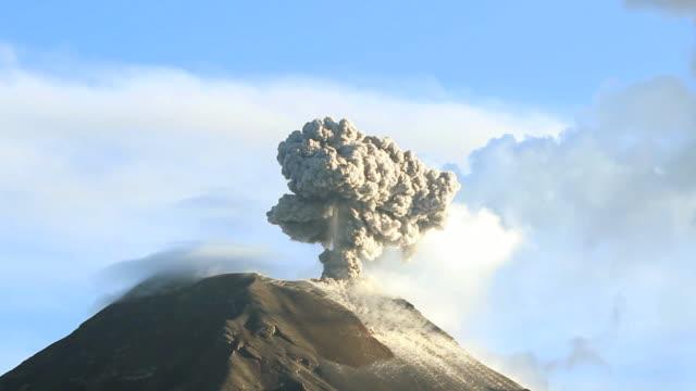 Tungurahua Volcano erupting video